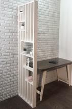 Реечная перегородка для зонирования комнаты (декоративная перегородка) из массива Светлая