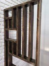 Реечная перегородка для зонирования комнаты (декоративная перегородка) из массива