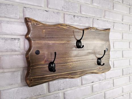 Вешалка настенная ВН-001 (брашированное дерево)