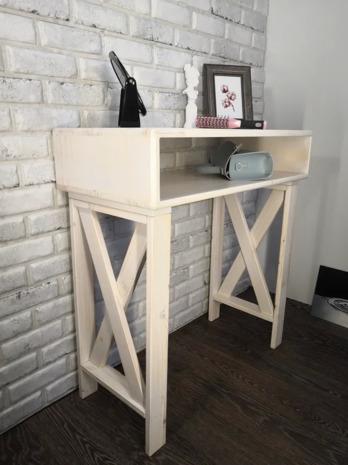 Консоль, Туалетный столик СТ-001 Светлая Хижина, 70х35х75 см